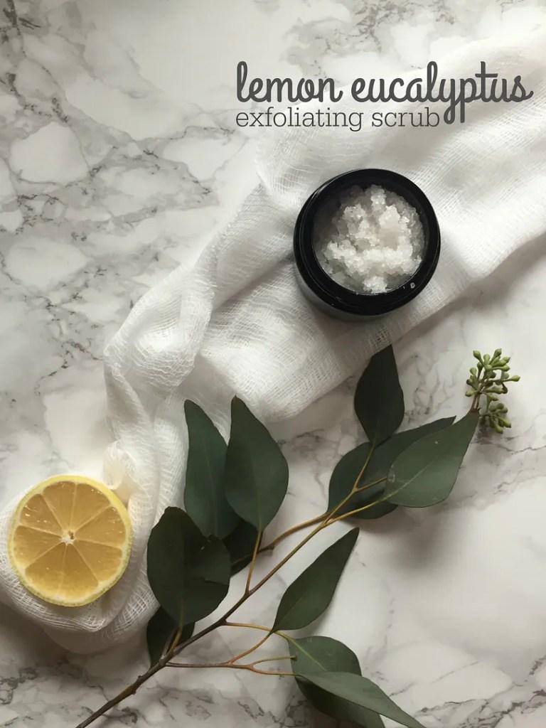 lemon eucalyptus exfoliating scrub