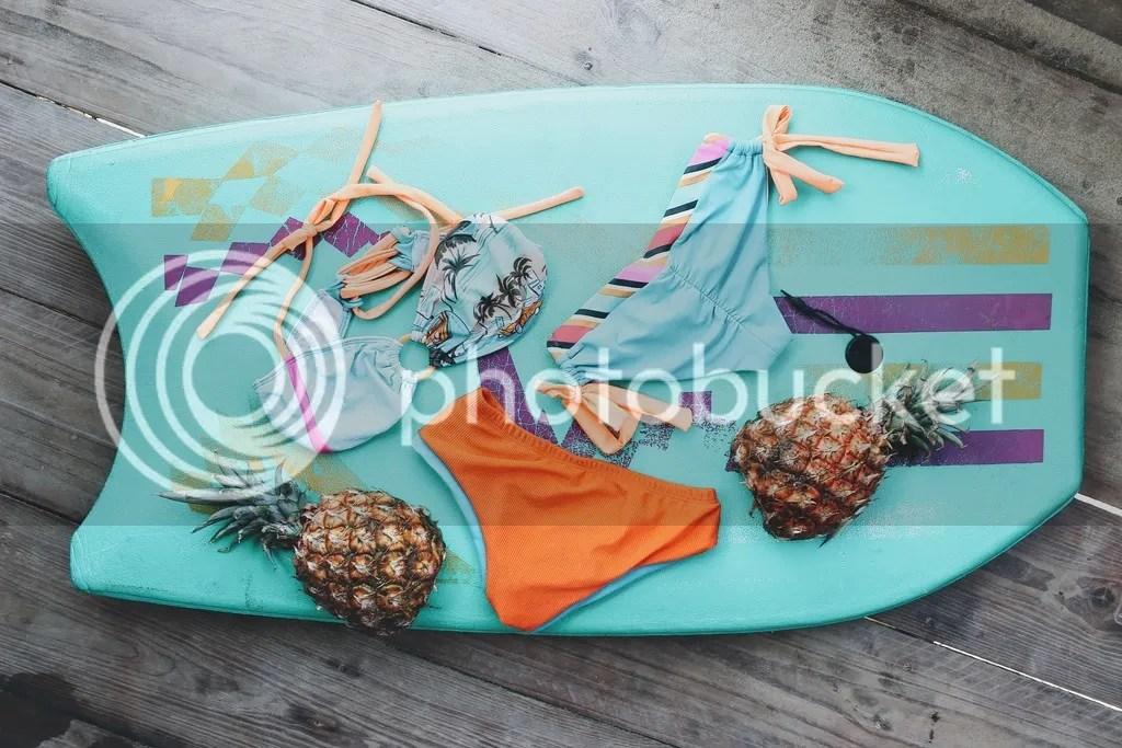 MIAHMO bikinis MH16005 top estrapless con amarre en espalda y cuello, panty alta con piernas perfect fit