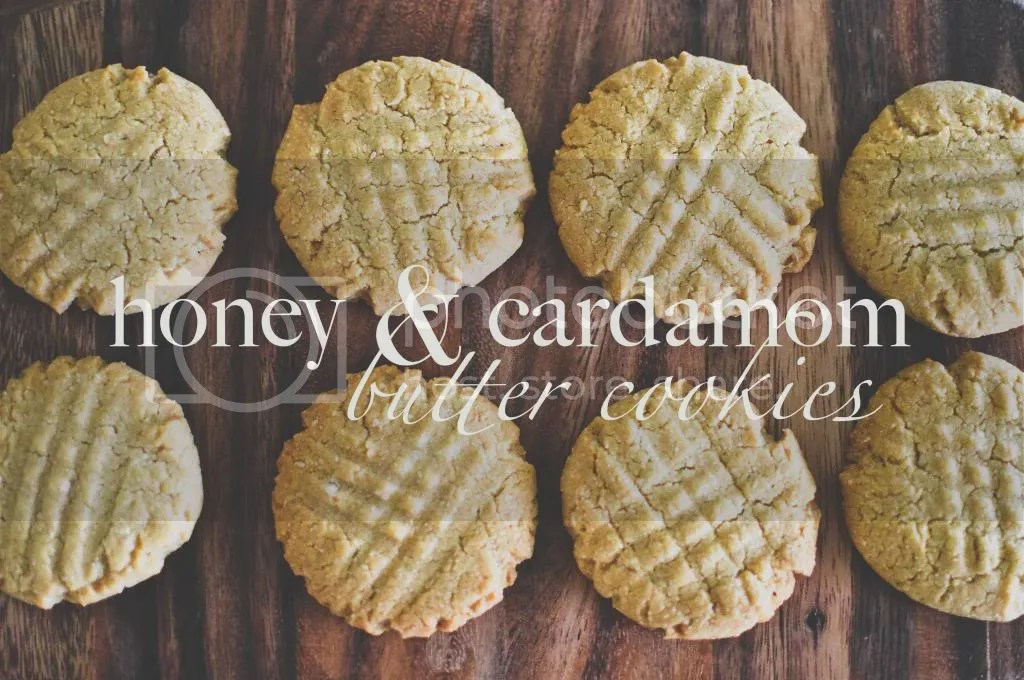 Honey & Cardamom Butter Cookies