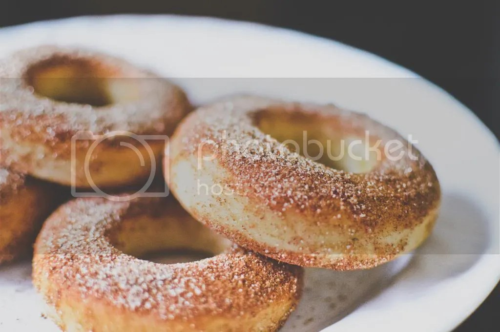 Baked Soft & Chewy Yeasted Cinnamon Sugar Donuts