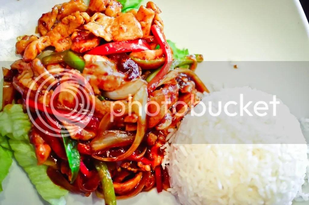 Batam Chilli Chicken with Rice