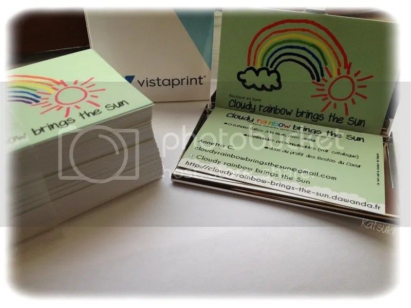 Cartes De Visite Cloudy Rainbow Brings The Sun Imprimees Par Vistaprint