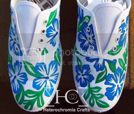 zapatillas shoes hawaii flowers summer diy