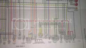 need wiring diagram for 1997 gsxr 600 (needs to have white