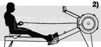 rowing machine drive position