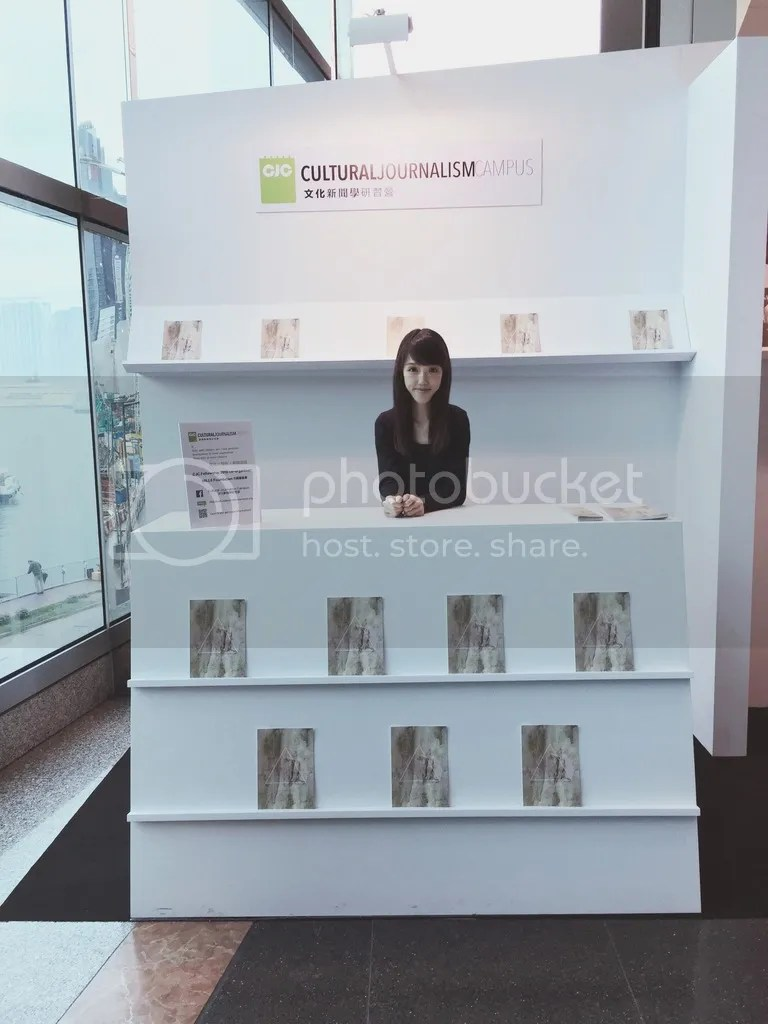 Cultural Journalism Campus booth at Art Basel 2016