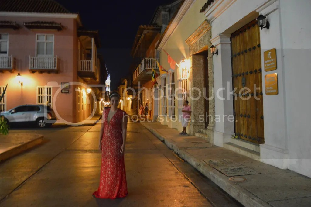 The romantic streets of Cartagena, Colombia