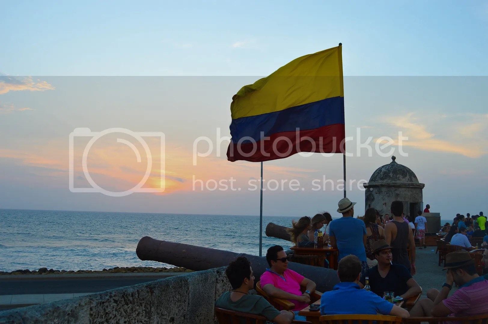 Cafe Del Mar, the best spot for drinks and to watch the sunset in Cartagena