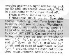 chloeheartsowls.com vintage knitting pattern 1960s shell and argyle skirt