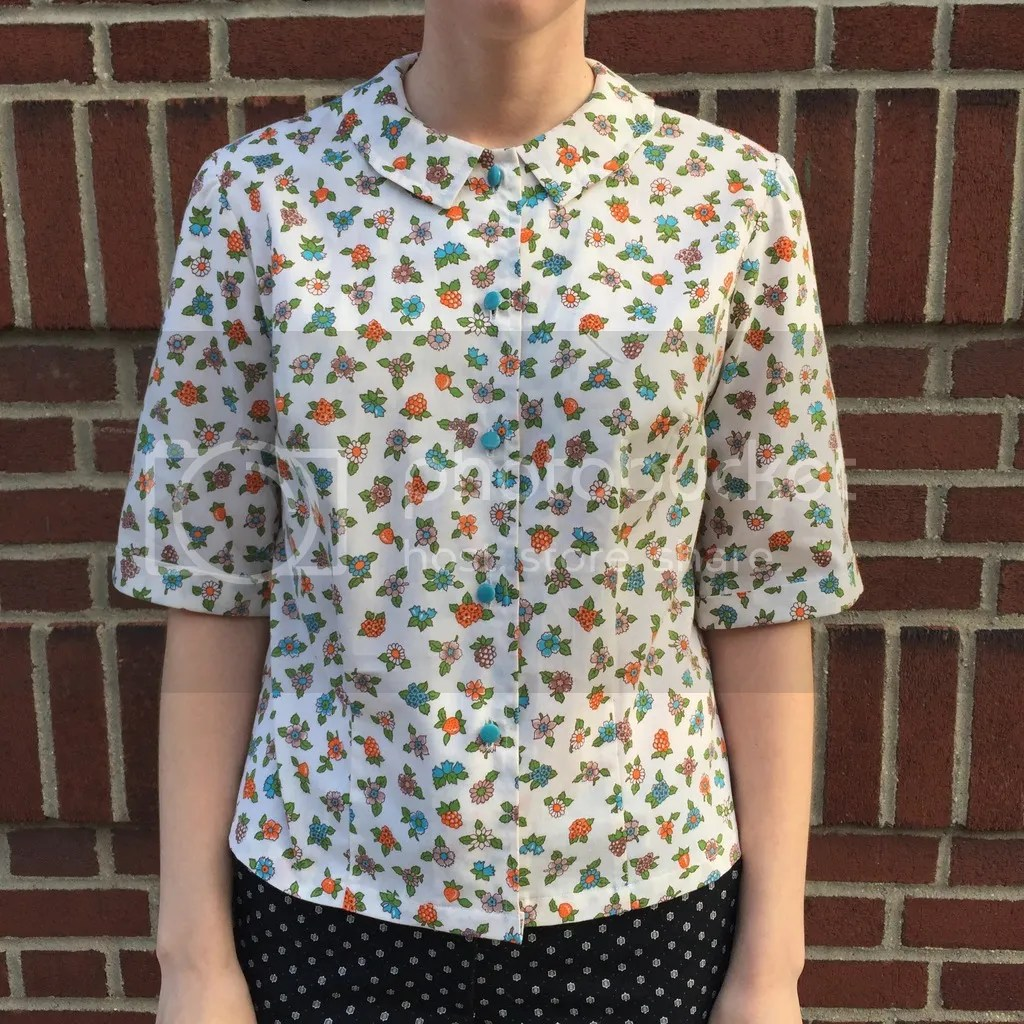 chloeheartsowls.com vintage sewing - 1960s blouse - simplicity 4606