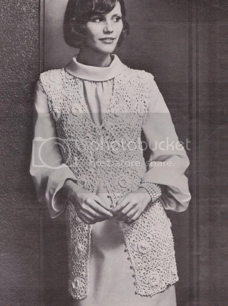 chloeheartsowls.com vintage crochet pattern - 1970s irish rose jacket
