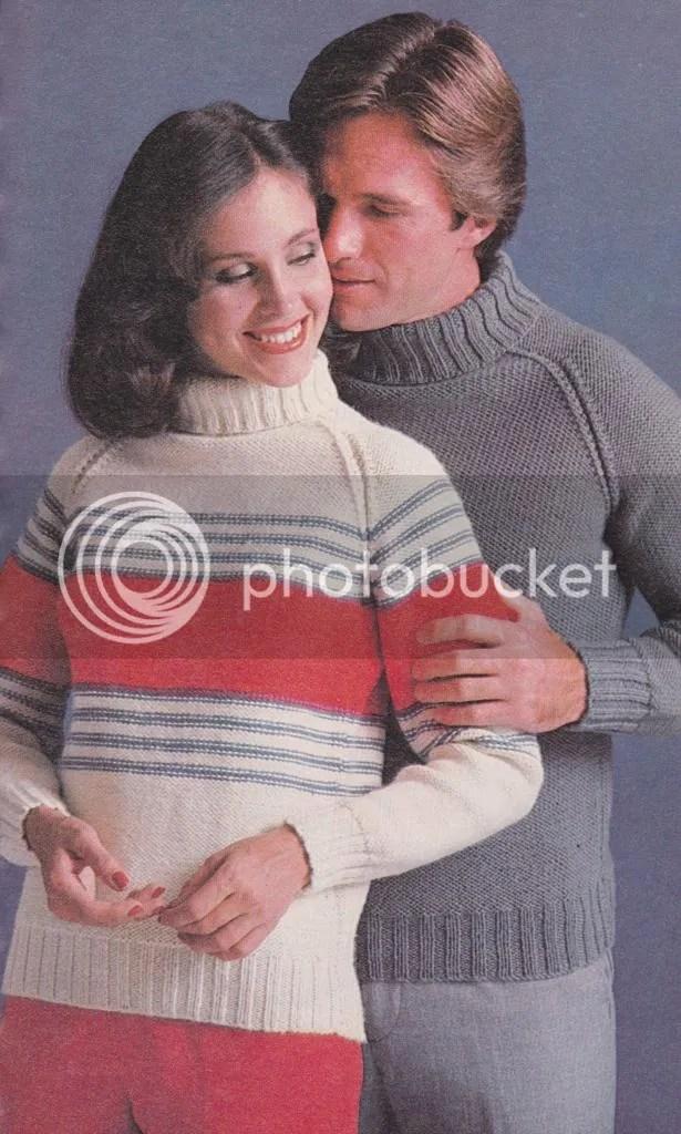 chloeheartsowls.com 1970s striped turtleneck pullover knitting pattern