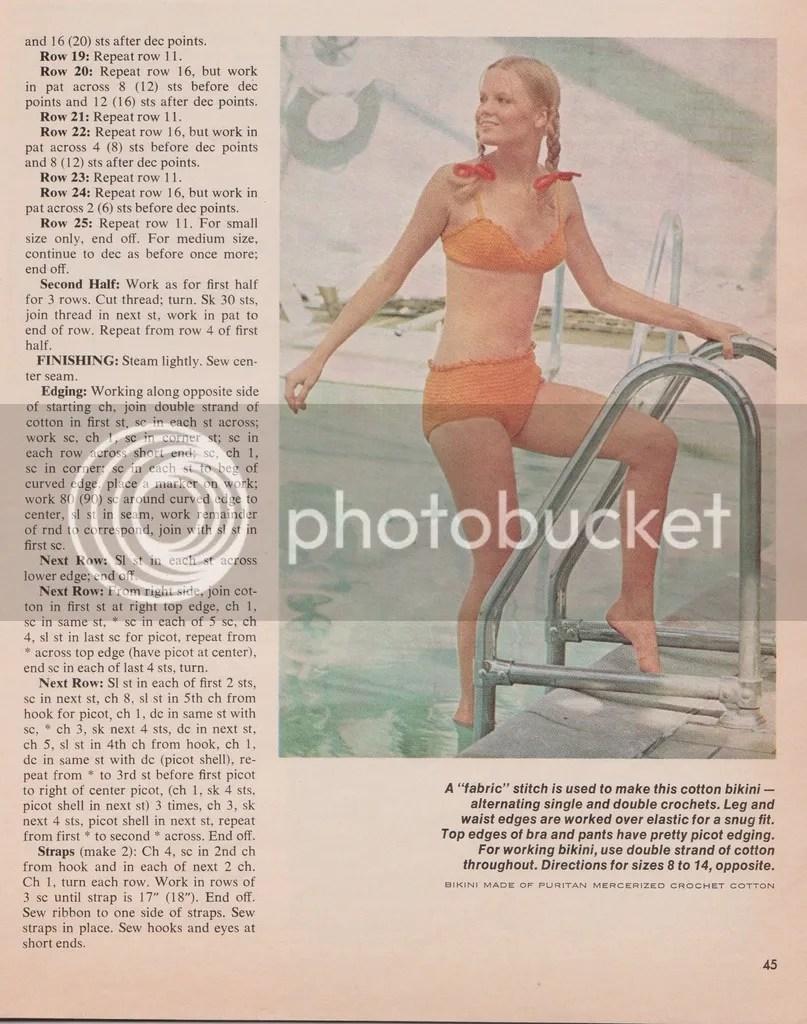 chloeheartsowls.com Vintage Crochet Pattern: 1970s Bikini