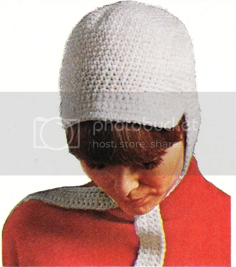 chloeheartsowls.com vintage crochet pattern 1960s hat with ties