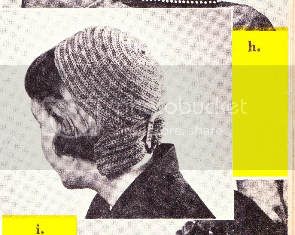 chloeheartsowls.com vintage crochet pattern 1950s streamer hat