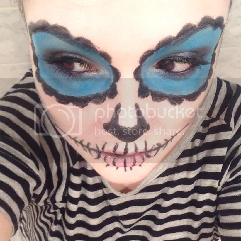 candy skull make up