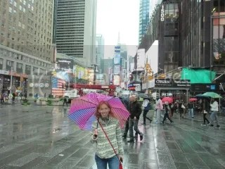 Me in Times Square, New York, New York