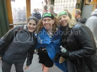 Marisa, me, and Heather after the TCS New York City Marathon