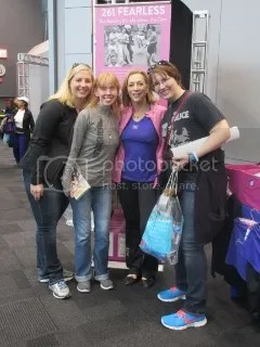 Heather, Me, Kathrine Switzer, and Cathy at the TCS New York City Marathon Race Expo