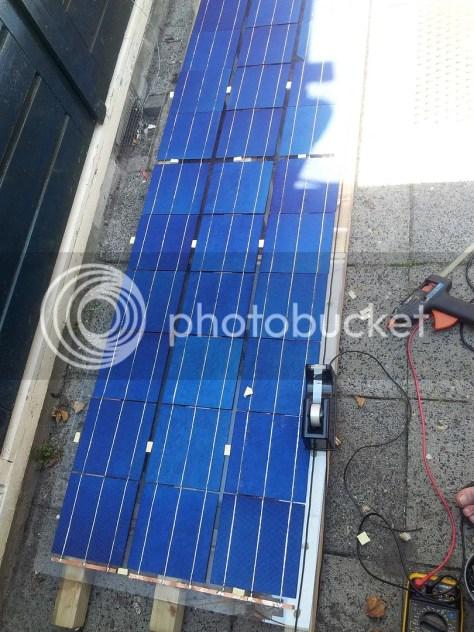 Zonnepaneel in de maak