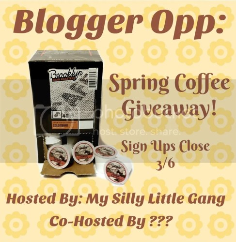 blogger opp spring coffee giveaway