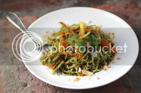 Pasta recipe: Edamame Spaghetti with Kale Cilantro Pesto