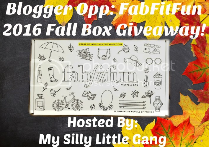 Blogger Opp The FabFitFun 2016 Fall Box Giveaway