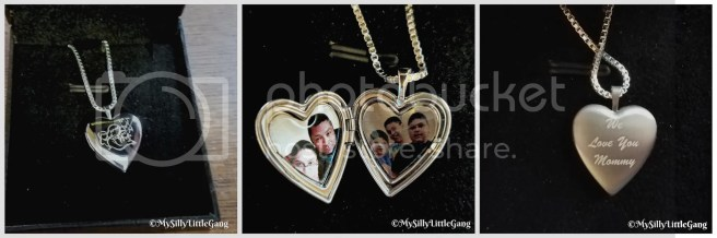 locket from pictures on gold