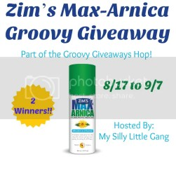 Zim's Max-Arnica Giveaway