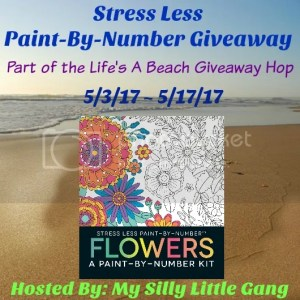 Stress Less Paint-By-Number Flowers kit giveaway