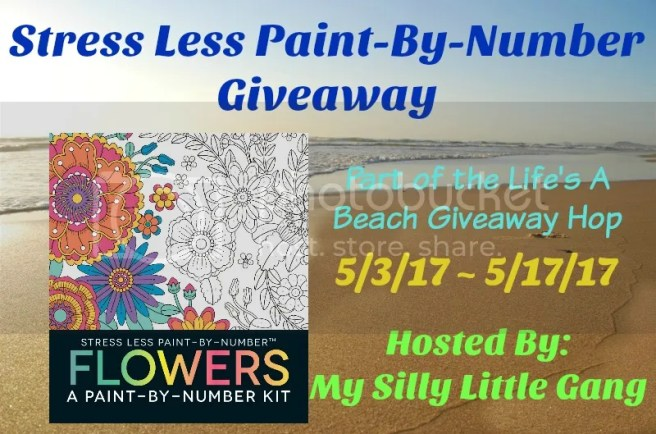 stress less paint by number giveaway