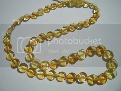 amber necklace baby