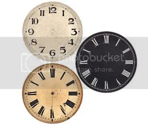 Clock Parts Antique Dials