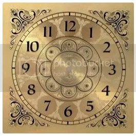 Square Metal Clock Face