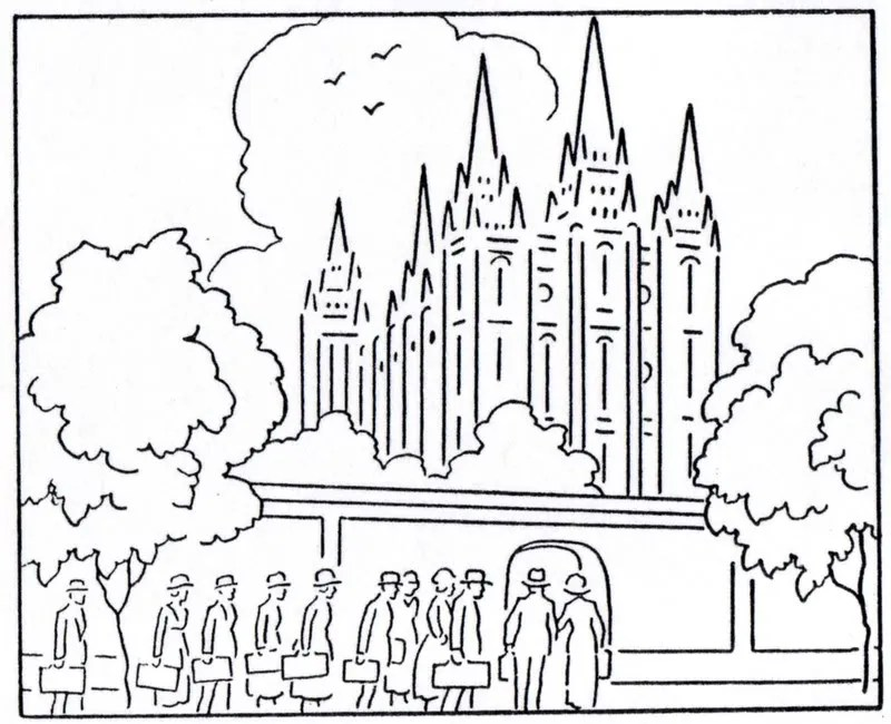 """mormon history coloring book 1923 august """"temple"""