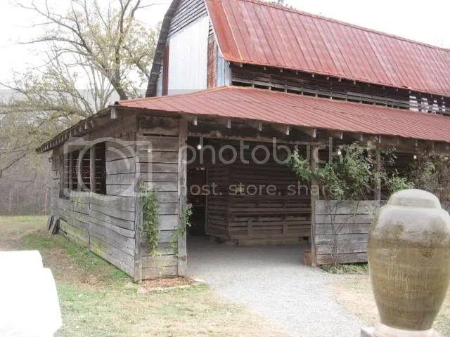 this barn served as the gallery