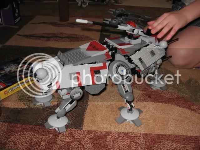 A Lego Star Wars AT-TE Walker
