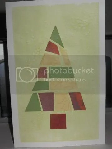 Example of finished Christmas card