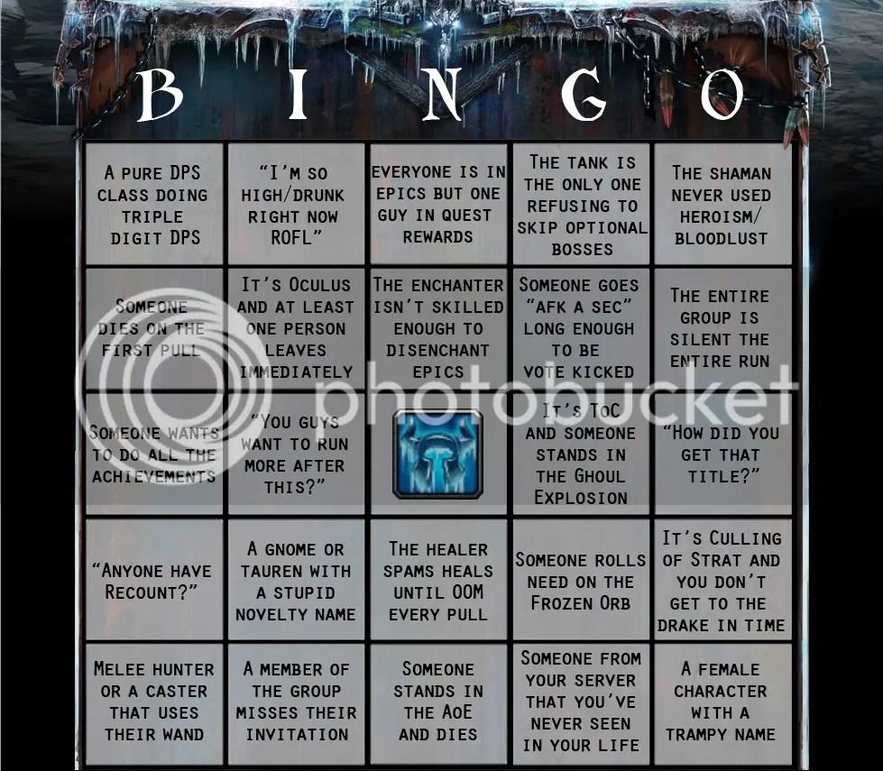 PuG Bingo