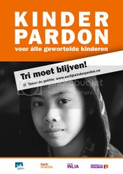 http://www.defenceforchildren.nl - Foto van Tri tbv het kinderpardon!
