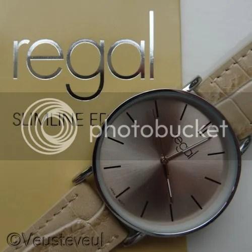 Regal slimline edition horloge beige