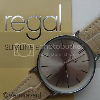 Regal slimline edition horloge beige