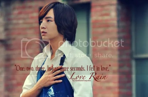 Drama Quote from the Korean Drama, Love Rain