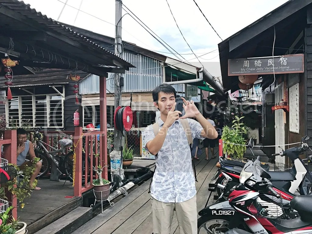 Fred in Chew Jetty