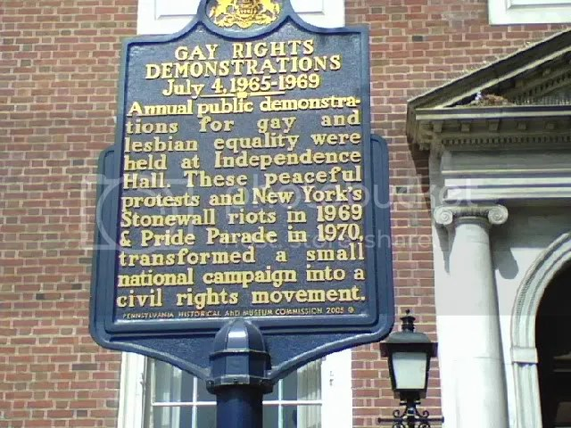 Gay Rights Historical Marker