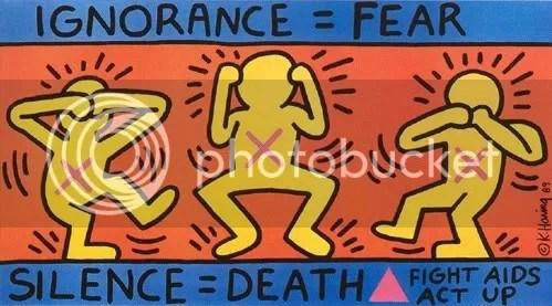 Ignorance = Fear, Silence = Death, Keith Haring