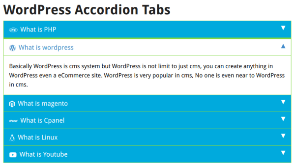 WordPress Responsive Accordion Tabs