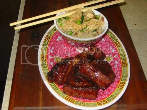 A plate of tasty Chinese spare ribs...looks tasty right!?!