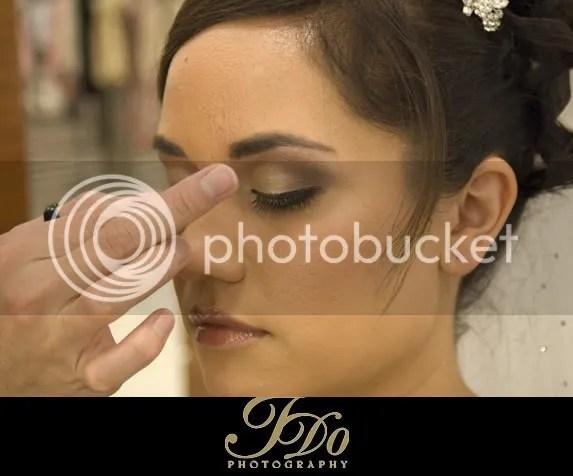 makeup artist giving me the bird