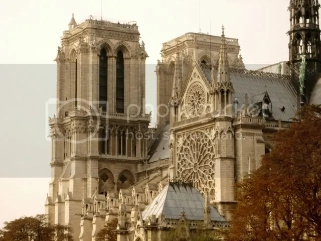 a glimpse of Notre Dame de Paris